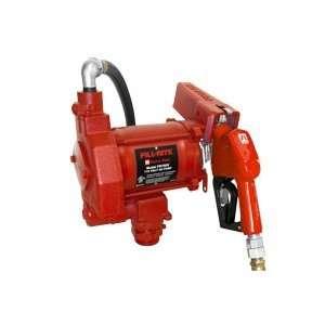 20 GPM Pump Diesel/Gasoline Fuel Tank Transfer Pump w/ Auto Nozzle