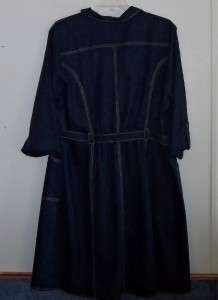 New White Stag Dark Navy Linen/Rayon Dress 22 24W/3X