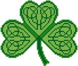 Celtic Shamrock   Irish   Cross Stitch Pattern Chart