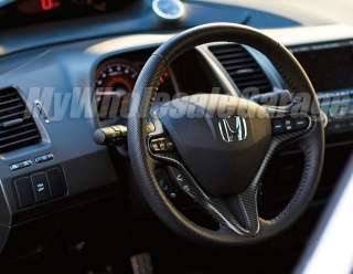 Carbon Fiber Steering Wheel Trim Cover Civic 06 2011 Coupe & Sedan Si