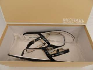 BN Michael Kors Black Leather Sandals UK3.5 EU36.5