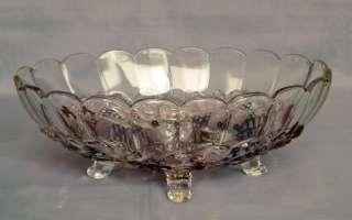 VTG INDIANA GLASS GARLAND PURPLE FLASH CONSOLE SET RARE