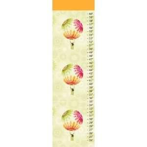 Hot Air Balloon Canvas Growth Chart Baby