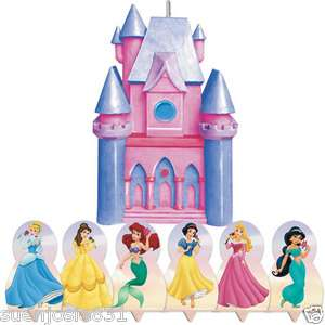 Disney Princess Castle Candles Cake Topper Decoration