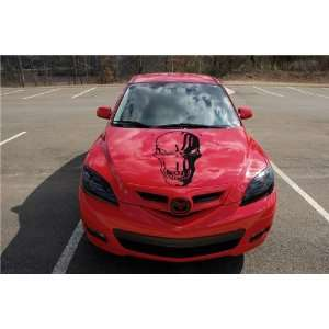 MAZDA HOOD DECAL KIT sticker FIT ANY CAR SKULL