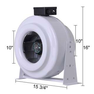 Ventilation 10 Inch Inline Cooling Duct Fan Exhaust Air Blower Vent