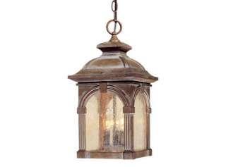 RUSTIC VINTAGE ESSEX OUTDOOR HANGING LAMP LANTERN LIGHT
