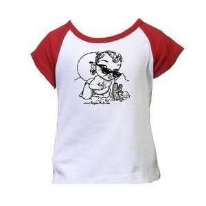 Desert Design White Girl Red Tee    DISCONTINUED