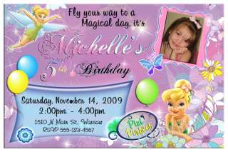 TINKERBELL PERSONALIZED BIRTHDAY PARTY INVITATIONS