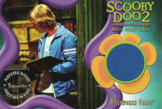 Scooby Doo 2 Movie Pieceworks Card PW1 Freds Jacket