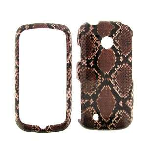 VERIZON LG COSMOS TOUCH BROWN SNAKE SKIN HARD PROTECTOR SNAP ON COVER