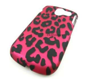 HOT PINK LEOPARD HARD CASE COVER PANTECH CRUX ACCESSORY
