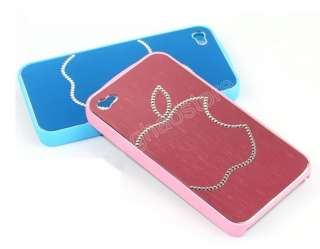 4Colors DELUXE Bling Crystal Huge Apple Diamond Hard Case Cover For