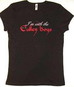 TWILIGHT I'M WITH THE CULLEN BOYS TEE SHIRT