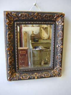 Antique French Louis XV gilt & bevelled mirror # 01642