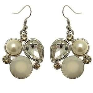 Acosta Jewellery   Enamel Pearl & Crystal Cluster   Vintage Inspired
