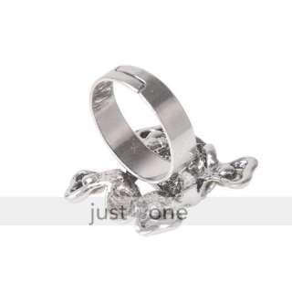 Men Unisex Skull Shape Design Cubic Zirconia Alloy Finger Ring