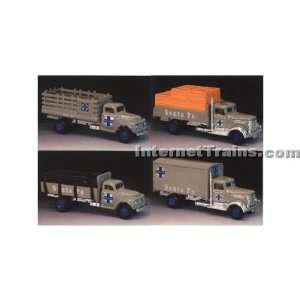 : IMEX HO Scale Ford & Peterbilt 4 Truck Set   Santa Fe: Toys & Games
