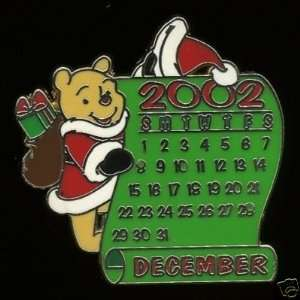 Disney Pin/12 Mom Calendar December Pooh