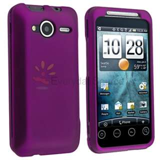 5X Hard Rubber Case Cover+Guard LCD Protector For Sprint HTC EVO Shift