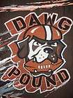 CLEVELAND BROWNS DAWG POUND THROW BLANKET Woven Acrylic Tapestry