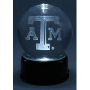 Texas A & M Aggies ATM Laser Etched Crystal Ball Sports