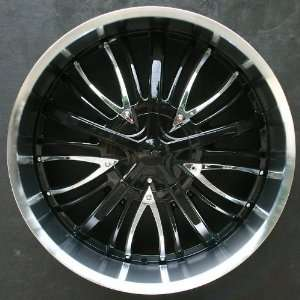 RVM 636   22 x 8.5 Black Rims / Wheels Cadillac CTS 2008 up   Set of