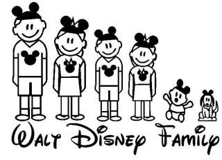 Walt Disney Family Window Sticker Decal You Design