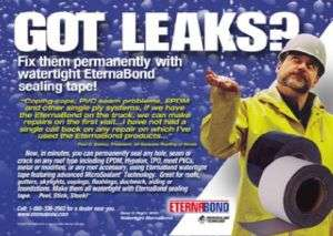 Eternabond RV roof leak repair tape White 2