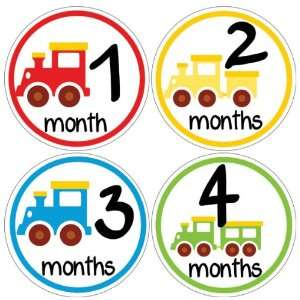 Train Baby Month Stickers for Bodysuit #44 Baby
