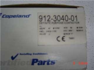 COPELAND DEFINITE PURPOSE CONTACTOR 912 3040 01