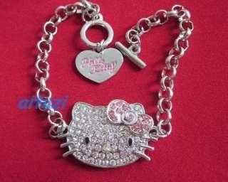 adjustable pretty hello kitty QUALITY Bracelet bow #F4