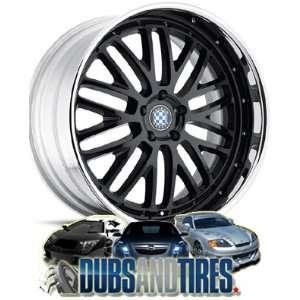 19 Inch 19x10 Beyern wheels ROSSLYN Black wheels rims Automotive