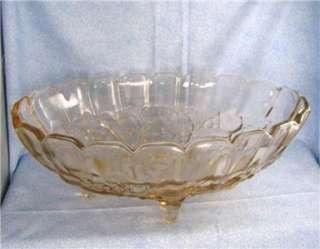 1960s 70s Indiana Glass Pink Garland Fruit Bowl