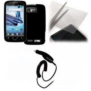 EMPIRE Motorola Atrix 2 Black Rubberized Hard Case Cover