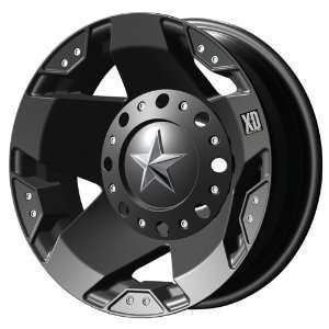 17x6 KMC XD Rockstar (Matte Black) Wheels/Rims 8x200 (XD77576082794N)
