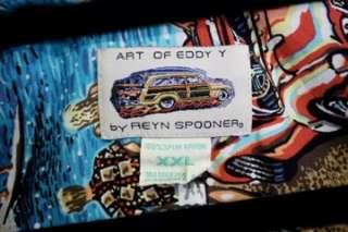 Reyn Spooner Spun Rayon Eddy Y Surf Tropical Hawaiian Button Front