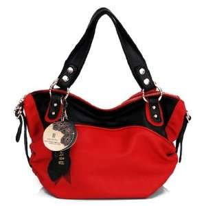 DIOU SZ011023 Studded Two Tone Color Shoulder Handbag Pet