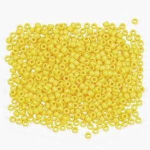 1/2 Lb Of Yellow Pony Beads   Art & Craft Supplies & Kids