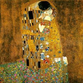 COUPLE THE KISS LOVE GUSTAV KLIMT CANVAS REPRO HUGE
