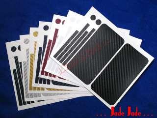White Carbon Fiber Full Body Wrap Skin Sticker for iPhone 4S #K