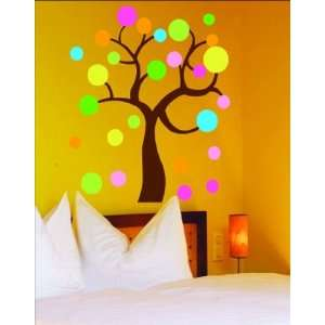 Tree Polka Dots Sticker Decal for Baby Nursery Kids Room Baby
