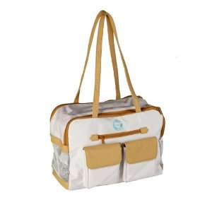 Carrier, Beige, Made of Recycled PET Water Bottles