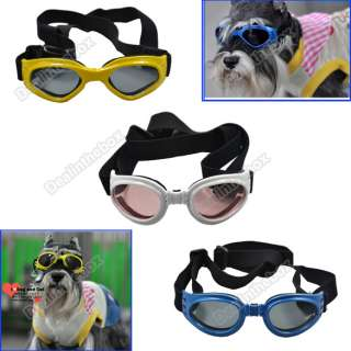 Fashion Pet Dog Doggles Goggles UV Sunglasses Eye Wear Protection