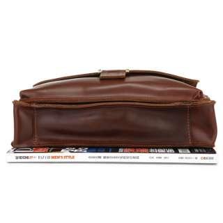 Cowboy Vintage Leather Messenger Bag Brief Case Purse