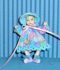 DollhouseMiniatureNurseryDoll ClothesDress SetOOAK