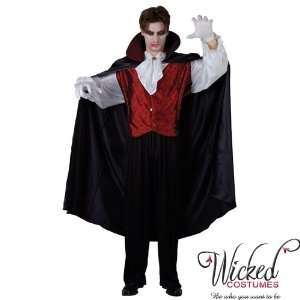 Wicked Dracula Prince Of Darkness Mens Halloween Costume