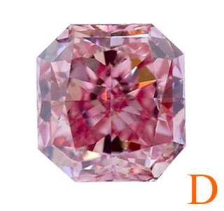 Fancy Intense Pink Radiant Cut Loose GIA Diamond