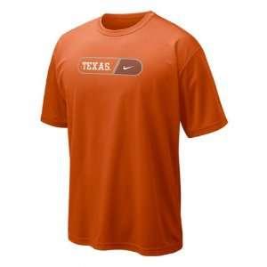 Texas Longhorns Orange Nike Dri Fit Pill Legend T Shirt