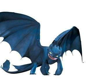 100 x HOW TO TRAIN YOUR DRAGON PVC TOOTHLESS NIGHT FURY